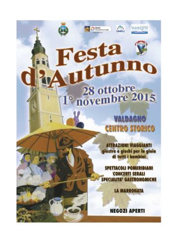 Festa d'autunno dal 28 ottobre al I° novembre 2015